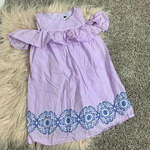 Janie and Jack girls 4 lavender off shoulder dress
